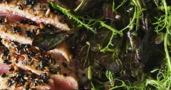 Sesame Seared Tuna with Lime Ginger Vinaigrette | recipes | Pinterest ...