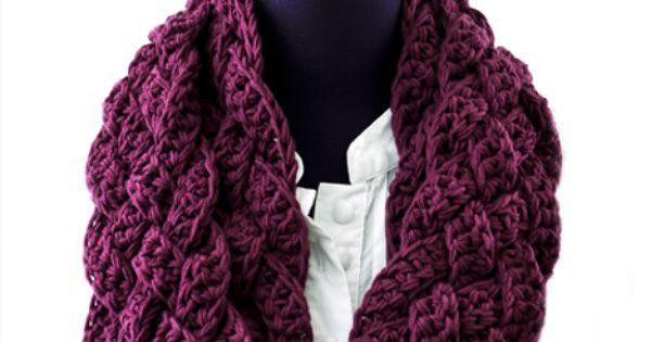 Rapunzel Infinity Scarf Crochet Pattern Free : Interweave: Rapunzel Scarf. 5 strands of fdc, 70in long ...