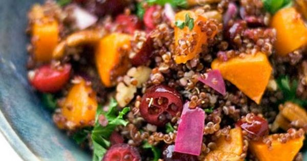 Red Quinoa with Butternut Squash, Cranberries and Pecans. | primal ...