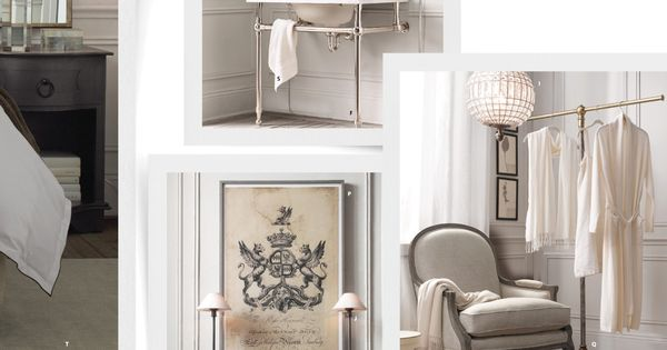 Garment rack 2013 small spaces catalog restoration hardware bedroom pinterest - Small spaces restoration hardware set ...