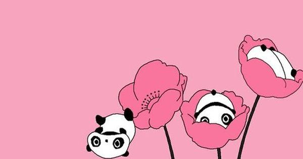 Panda Panda Pink Panda Pink Panda Panda Panda Wallpapers Cute Panda Wallpaper Cute Drawings