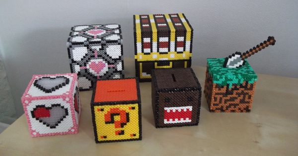 3d hama beads cubes by on. Black Bedroom Furniture Sets. Home Design Ideas
