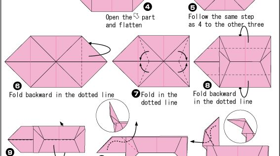 Finally! pattern for origami dachshund. DIY Christmas ornaments! origami, paper making, paper