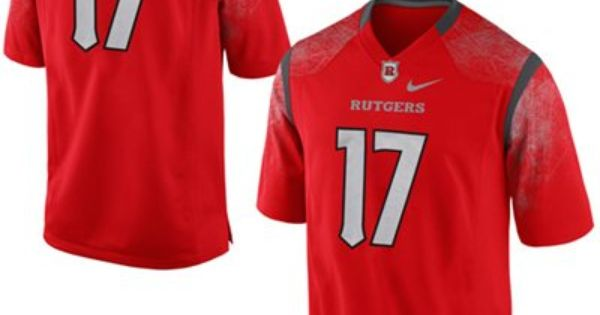 Nike Rutgers Scarlet Knights 17 Game Football Jersey Scarlet Rutgers Scarlet Knights Football Jerseys Jersey