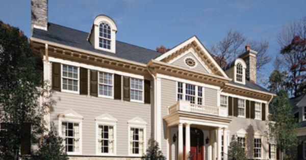 Colonial Home Benjamin Moore Exterior Paint Colors Stonington Gray Kendall Charcoal