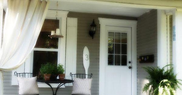 front porch via Our Vintage Home Love
