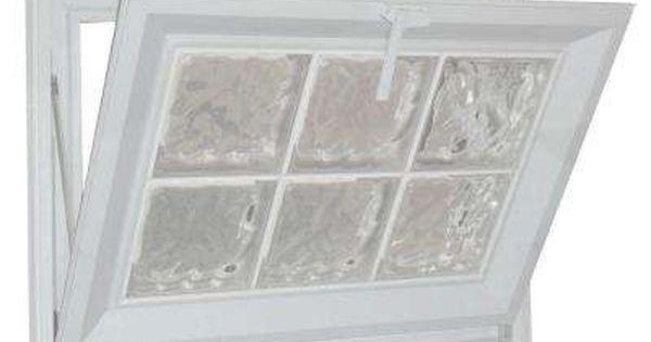 25 In X 25 In Glacier Pattern 6 In Acrylic Block Tan Vinyl Fin Hopper Window With Tan Grout Window Vinyl Window In Shower Glass Block Windows