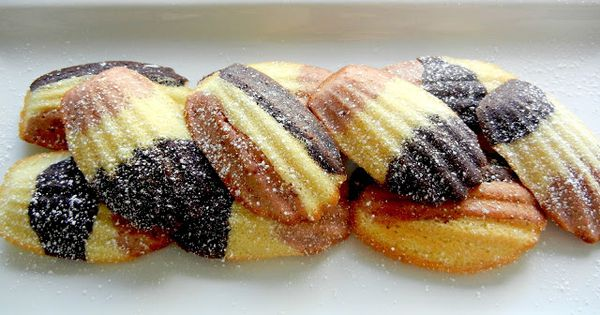 Red White & Blue Madelines, made w/ freeze dried strawberries ...