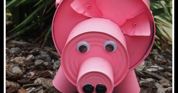 Diy Pig From Recycled Cans Craftiness Pinterest
