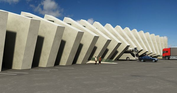 Ninotsminda Border Checkpoint by Luka Machablishvili / @Dezeen magazine | caucaso