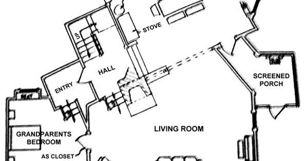The Waltons House Floor Plan 62091 – Floor Plan Of The Waltons House
