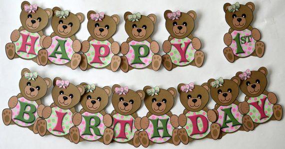Teddy Bear Birthday Backdrop DIGITAL FILE Teddy Bear Picnic Printable Banner Backdrop Woodland Large Scale Backdrop