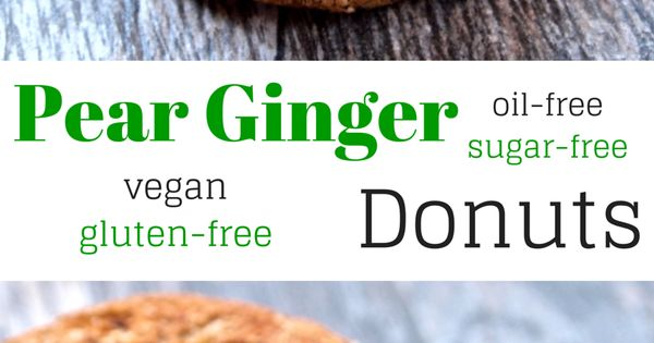 Pear Ginger Donuts | Recipe | Donuts, Pears and Pick Me Up