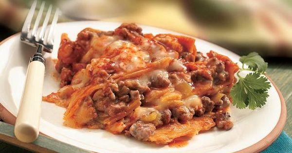 Crockpot Enchiladas --- 1lb ground chicken breast 2 tsp chili powder 1