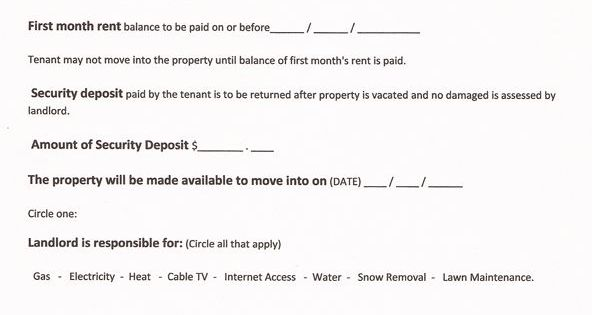 Printable Sample Free Lease Agreement Forms Form Real Estate   Free Printable  Rental Agreement Template  Printable Rental Agreement Template