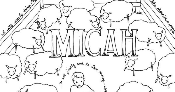Micah Bible coloring pages God