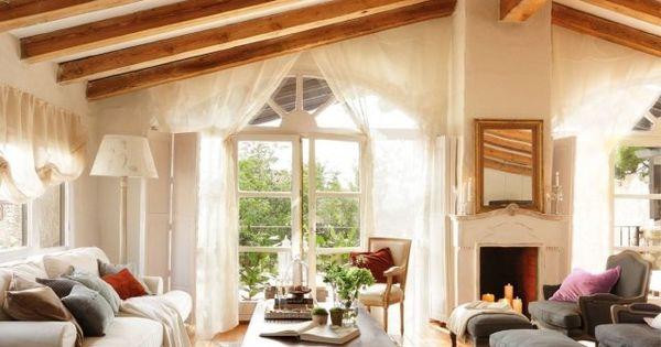 idee wohnzimmer landhausstil dachschr ge sichtbare dachsparren restaurant pinterest. Black Bedroom Furniture Sets. Home Design Ideas