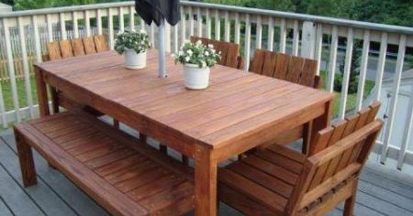 Simple Outdoor Dining Table Mesas De Jantar Ao Ar Livre Jantar Ao Ar Livre Patio Diy