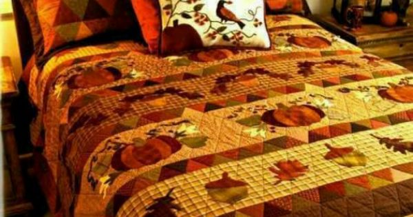 Fall Bedding Set Gathering Acorns Pinterest Bed Sets