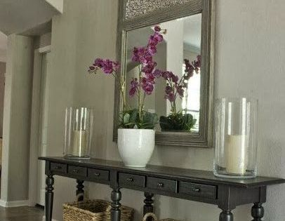 Idea for entry way • The Entry: Love this Pottery Barn console-