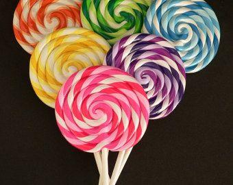 Candy Pe Clay Fake Swirl Lollipop