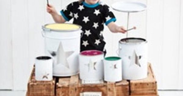 Homemade drum set homemade toys and awesome for Homemade periscope pvc