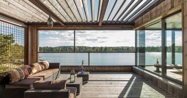 terrasse modern rattan m bel verglast holz berdachung. Black Bedroom Furniture Sets. Home Design Ideas