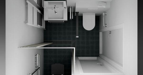 Een 3d ontwerp van een badkamer die ondersteunend is aan het gebruik door minder validen het - Kaart badkamer toilet ...