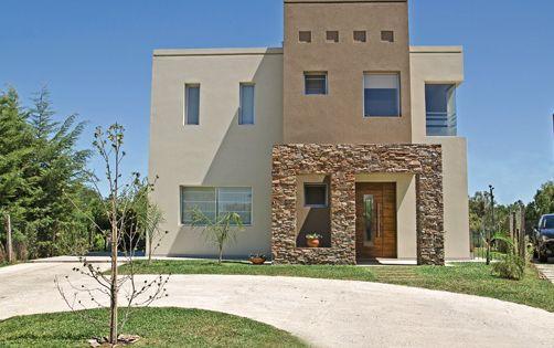 Fachada que me gusta con algo de piedra y en esos tonos - Planos de casas de piedra ...