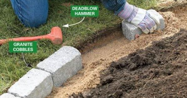Build A Brick Pathway In The Garden Brick Garden Brick Garden Edging Small Flower Gardens