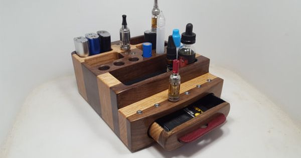 Vape Stand Designs : E cigarette ecig vape stand display wood organizer
