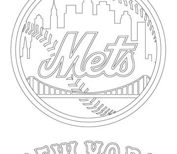 New York Mets Logo Coloring Page Baseball Coloring Pages New York Mets Logo Detailed Coloring Pages