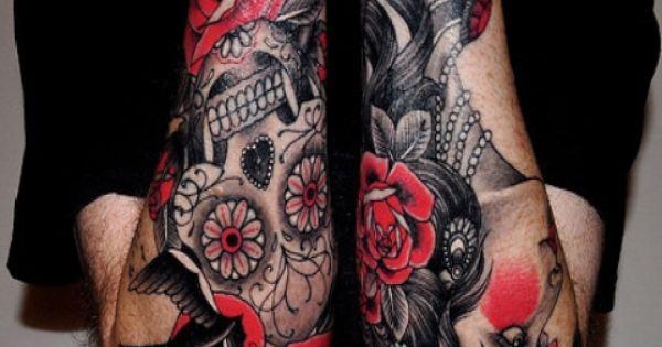 Sugar Skull Tattoo Sleeve Tagged With Best Tattoos Tattoos