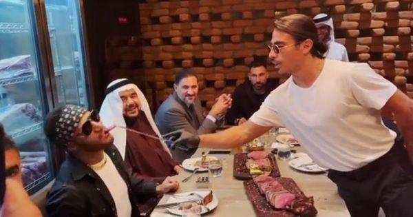 فيديو الشيف نصرت بياكل محمد رمضان هم انم ههههههههههههه Rare