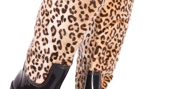Leopard rainboots