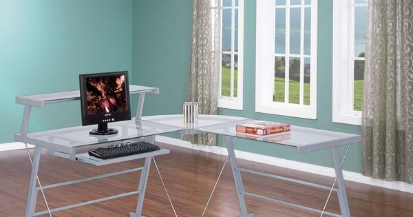 Shaped Computer Desk | Home Office | Pinterest | Home Office Desks