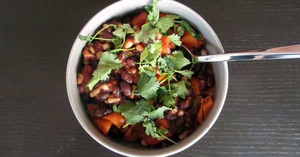 Black Bean chili | YUMMY DOODLE | Pinterest | Black Beans, Beans and ...