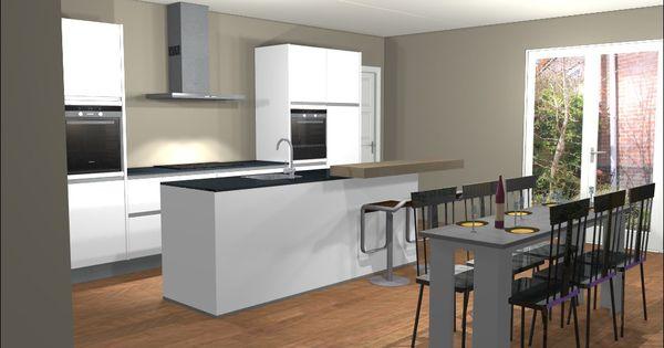 Ontwerp van keuken met kookeiland eiland keukens pinterest keuken luxe en ontwerp - Ontwerp witte keukens ...