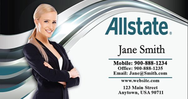 Pin On Insurance Agent Business Cards Allstate Business Cards
