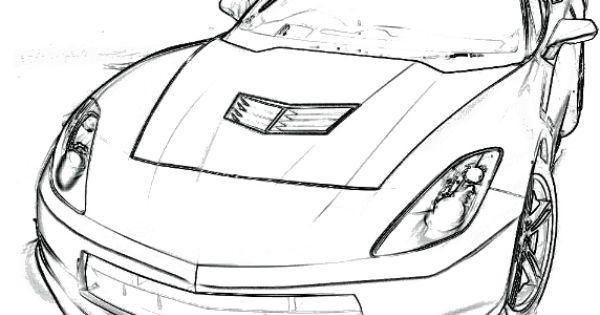 Corvette Stingray Coloring Page Corvette car coloring