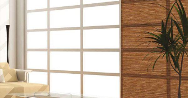 panneau japonais bambou motorise ou