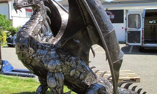 Diy Steampunk Dragon Made From Recycled Car Parts Car
