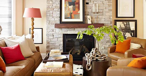 fall colors: decor with red, orange, gold & brown   decorating