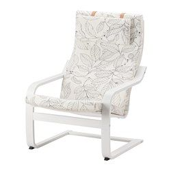 Ikea Poang Chair Vislanda Black X2f White The Cover Is Easy To Keep Clean As It Is Removable To Sit Even More Ikea Chair Affordable Furniture Furniture