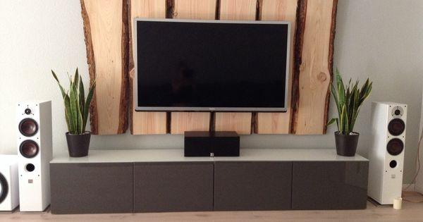 Tv wand ideen holz  Holz TV Wand - TV Wall Wood | Wohnen | Pinterest | Wände, TVs und Holz