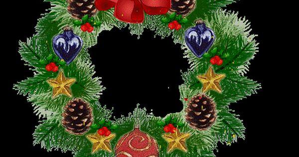 Christmas garland blinking lights gif wreath