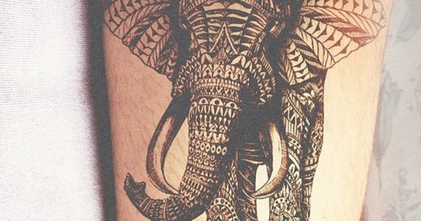Elephant tattoo ink
