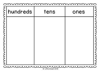 Free Place Value Mats Math Place Value Place Values First