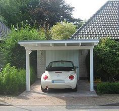 Carport In Front Of House Google Search Garagem Para Carros Garagens De Madeira Garagem
