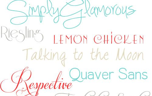TidyMom Favorite Free Fonts. Some of my favorite fonts.